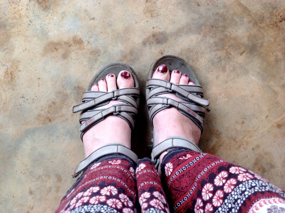I wouldn't have made it through the week without these sandals...I don't know how everyone else climbed.  Some were even wearing dress shoes!