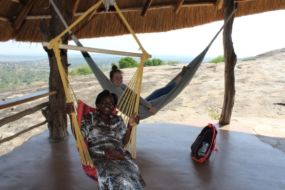 How do you know this was a good stop? Mackenzie & Joseline don't want to get out of the hammocks.